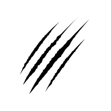 Claws scratches icon, logo isolated on white backgroun