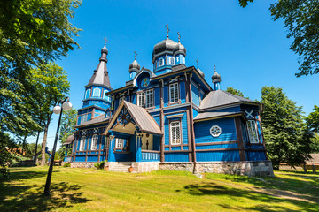 Orthodox church in Puchly village, north eastern Poland, Europe