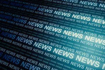 Fotobehang - Creative blue news backdrop