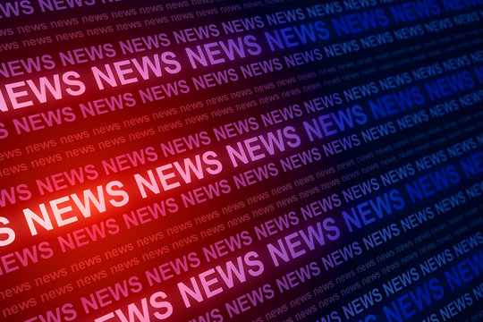 Creative red news background