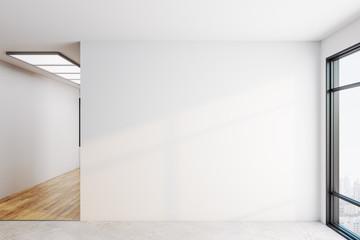 Bright interior with copyspace