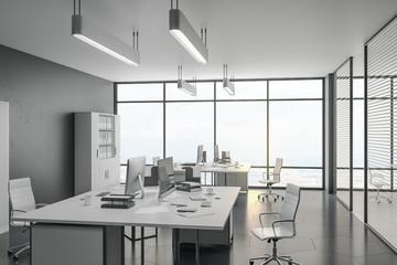 Luxury coworking office interior