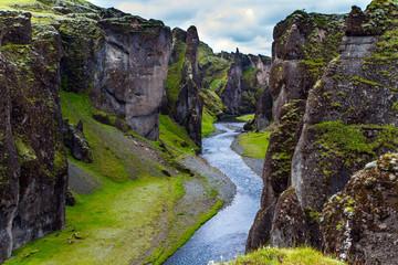 Wall Mural -  Iceland - Fyadrarglyufur Canyon