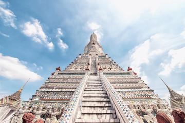 Wall Murals Place of worship Wat Arun temple in Bangkok, Thailand