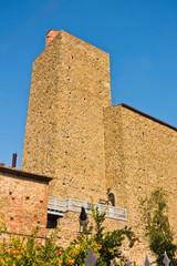 Bell tower of Castello dei Conti Guidi in Vinci, Tuscany, Italy