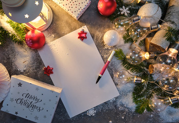 Santa Letter, greetings, Christmas gifts and decorations