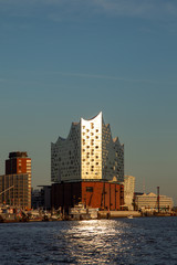 The Elbphilharmonie, the modern concert hall and landmark in the harbour of Hamburg, Germany.
