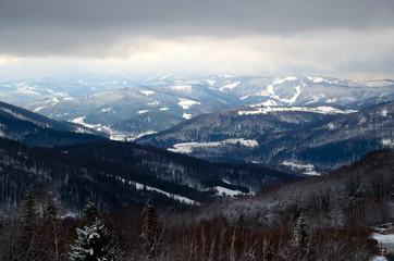 Beskid Śląski, Ustroń, zima