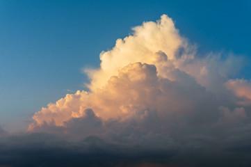 Big Thundercloud Lit by Sunset Sun
