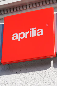aprilia dealership sign italian motorcycle motorbike scooter logo
