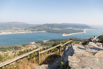 mouth of the river Miño, Galicia, Spain