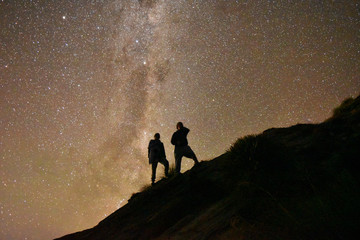 Fototapeten Braun starry night