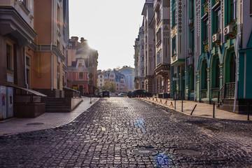 Street Vozdvizhenka. Podil. Hem Kiev. Ukraine - November 02 2019