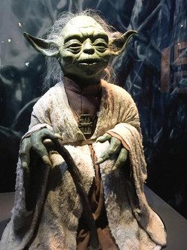 Star Wars Identities Exhibition yoda with authentic costume StarWars