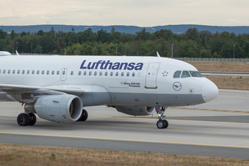 D-AIBD Lufthansa Airbus A319-100 after landing in Frankfurt/Mail on 6th July 2019