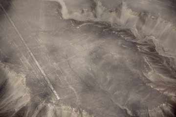 Lines of Nazca seen from above