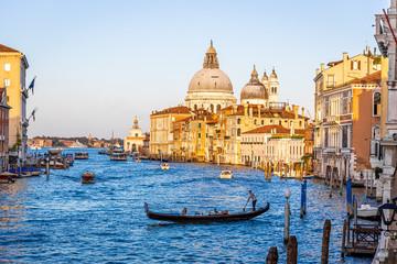 Gondola in sunny day in Venice, Italy