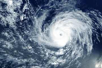 Typhoon from space near the coast. Elements of this image were furnished by NASA. Fototapete