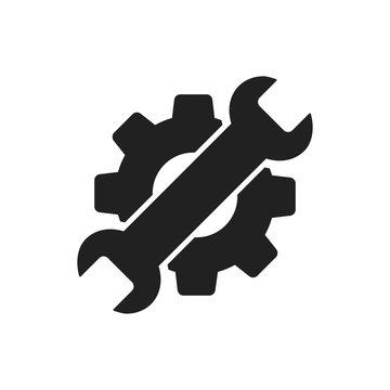 Settings maintenance icon on white background. Setting maintenance isolated vector sign symbol icon.