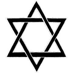 Vector Illustration of Star of David