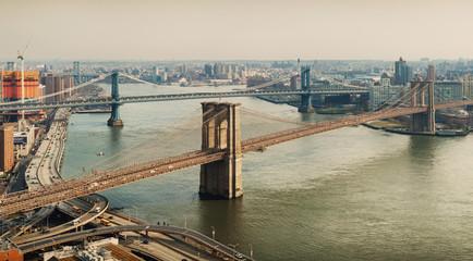 Tuinposter Brooklyn Bridge Manhattan and Brooklyn Bridges