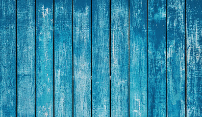Photo sur Toile Les Textures Dark blue plank wall texture background