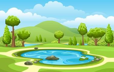 Small garden lake