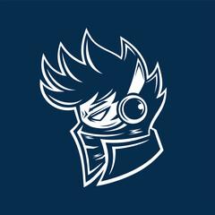 Cool DJ Musician head sideview logo designs inspiration