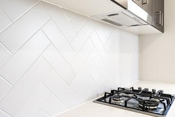 Obraz Herringbone Kitchen tile splash backs kitchen - fototapety do salonu