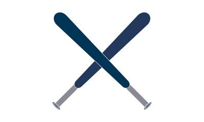 Cross baseball bat icon vector image