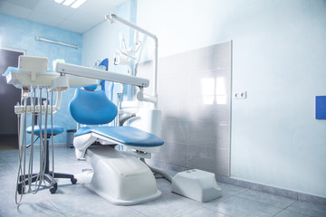 Dentist chair. Interior of dental clinic