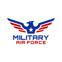 strong military Eagle wing logo design