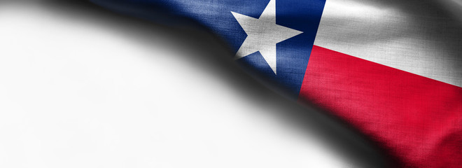 Photo sur cadre textile Texas Fabric texture of the Texas Flag - Flags from the USA