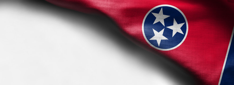 Fabric texture of the Tennessee Flag - Flags from the USA