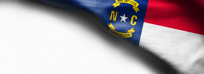 Fabric texture of the North Carolina Flag - Flags from the USA