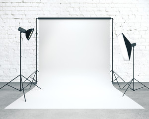 Photo studio with background