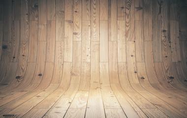 Obraz curved wooden background - fototapety do salonu