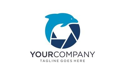 Ocean photography logo design vector