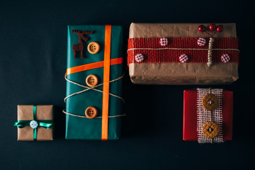 trendy Christmas gifts on black