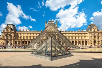 Paris, France - June 12, 2015: Louvre Museum in Paris, the world's largest art museum and a historic monument