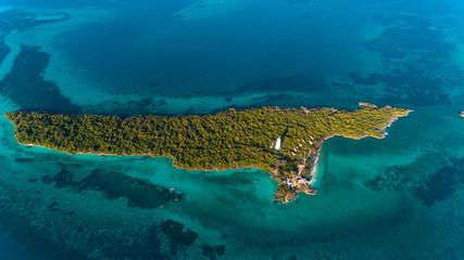 Papiers peints Cote aerial view of the chumbe island coral park, Zanzibar