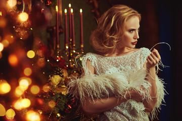 gorgeous festive woman