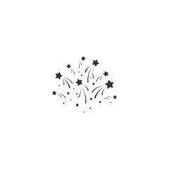 stars with sparkles. Sturdust, confetti template. Vector illustration.