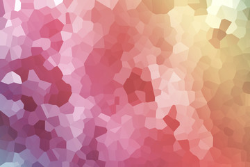 Abstract illustration of Little Hexagon pastel . Art gradient colorful beautiful textured off focus toned. Abstract background Blur . Use as wallpaper or for web design.