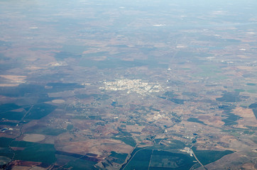 Aerial view of Beja, Portugal