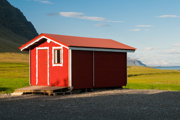 Red hut in Iceland