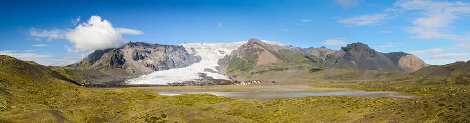 Panoramic of Kviárjökull - Iceland
