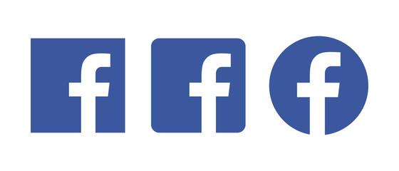 Facebook icon set.