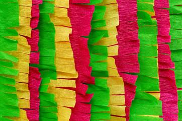 process of pinata creation: cut paper