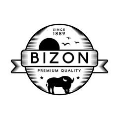 Fototapeta Bizon vector logo template